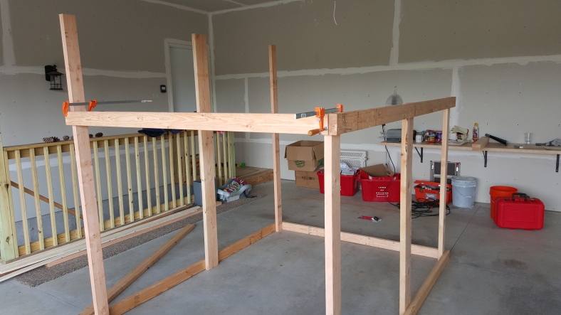 Some more framing in the garage